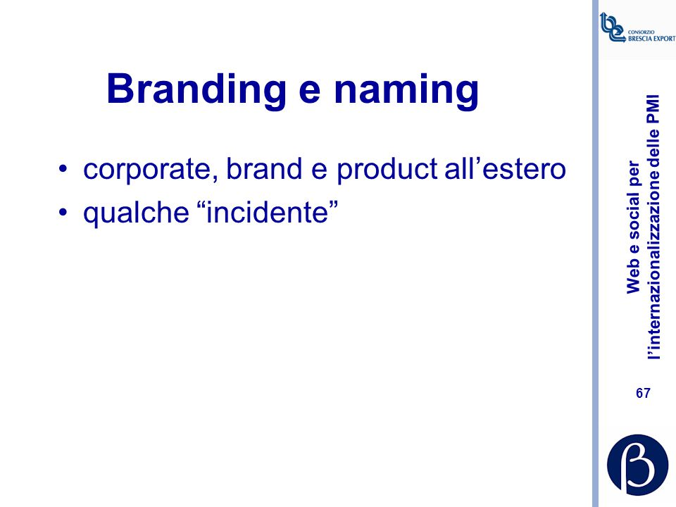 Branding e naming corporate, brand e product all'estero