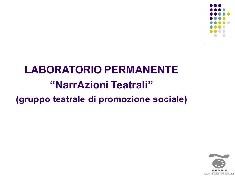 LABORATORIO PERMANENTE NarrAzioni Teatrali