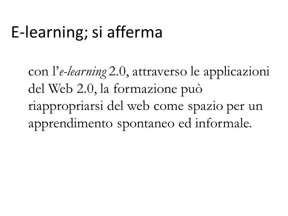 E-learning; si afferma