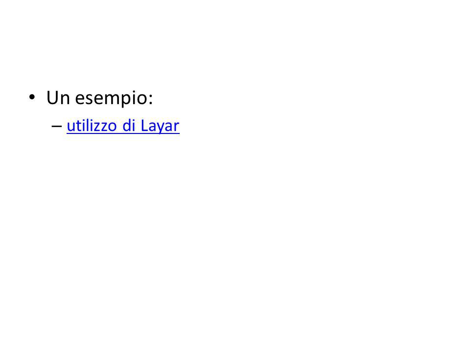 Un esempio: utilizzo di Layar