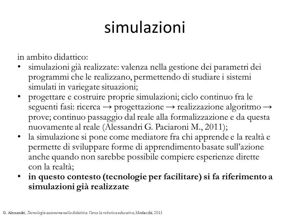 simulazioni in ambito didattico: