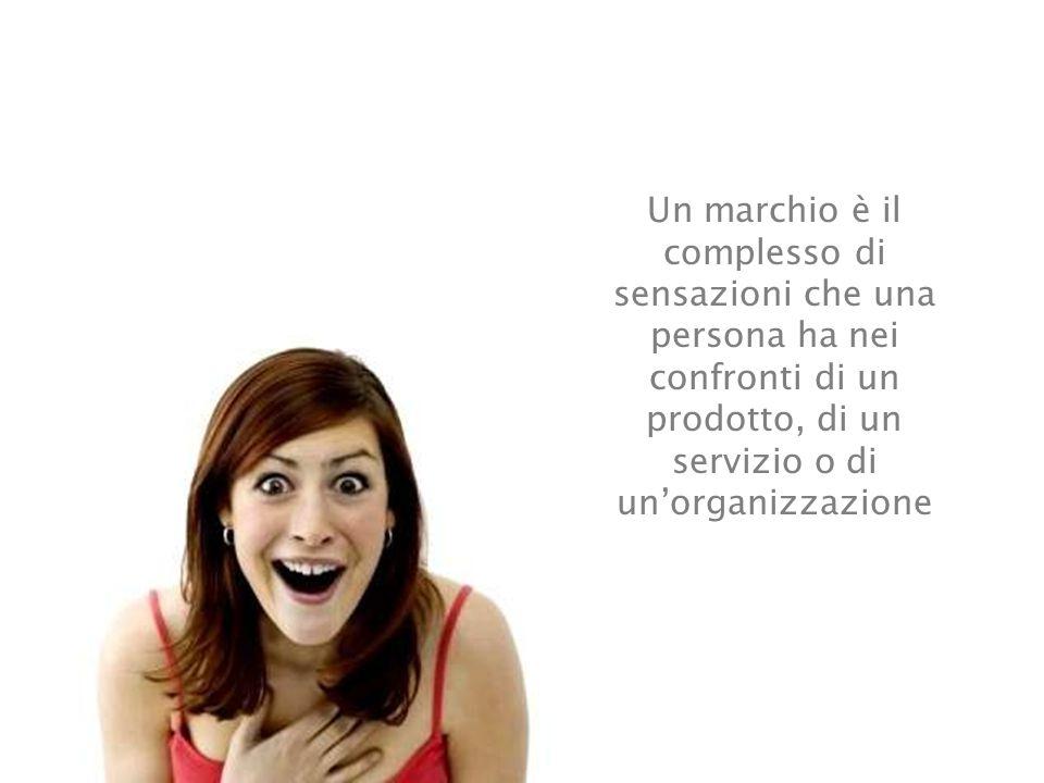 Un marchio è il complesso di sensazioni che una persona ha nei confronti di un prodotto, di un servizio o di un'organizzazione