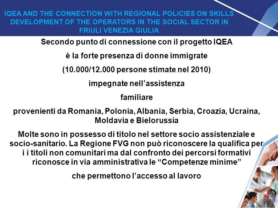 Secondo punto di connessione con il progetto IQEA