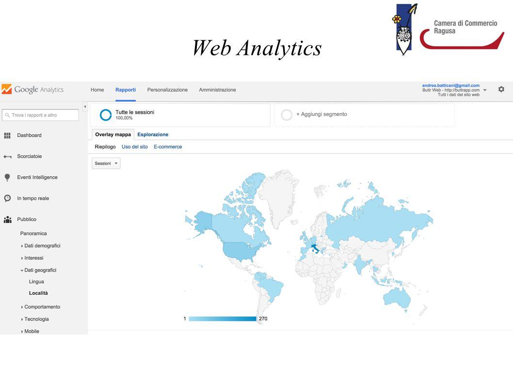 Web Analytics Strumenti per il monitoraggio del traffico e delle performance del proprio sito.