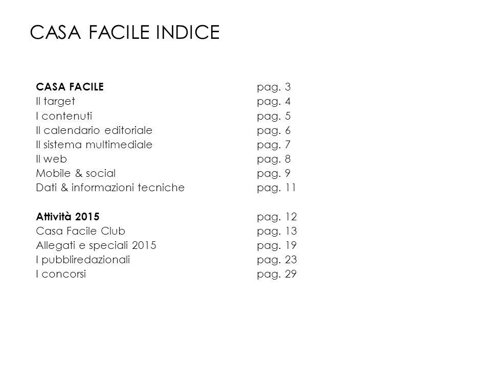 CASA FACILE INDICE CASA FACILE pag. 3 Il target pag. 4