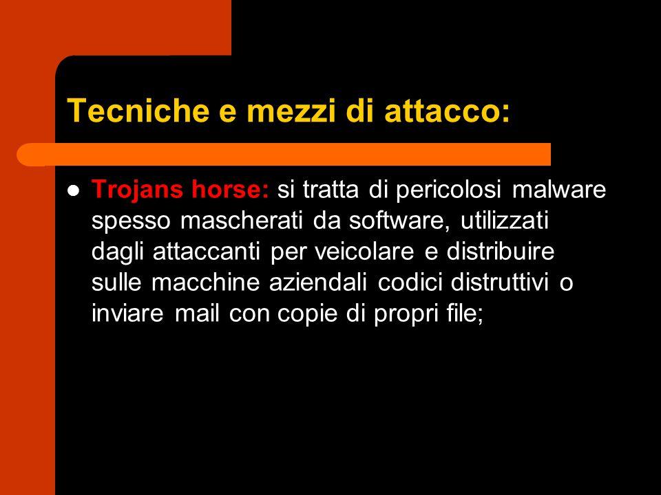 Tecniche e mezzi di attacco: