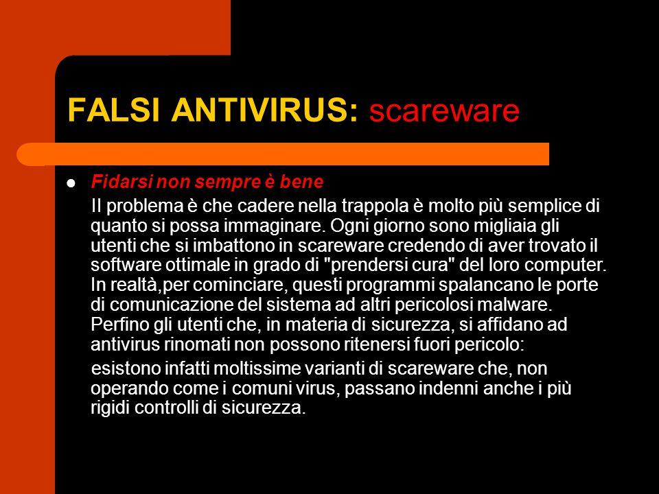 FALSI ANTIVIRUS: scareware