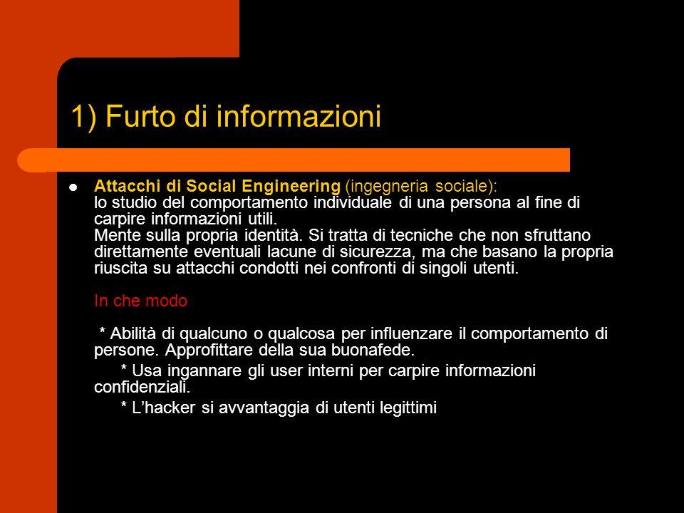 1) Furto di informazioni