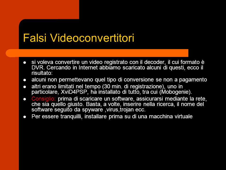 Falsi Videoconvertitori