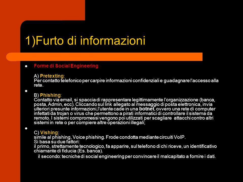 1)Furto di informazioni