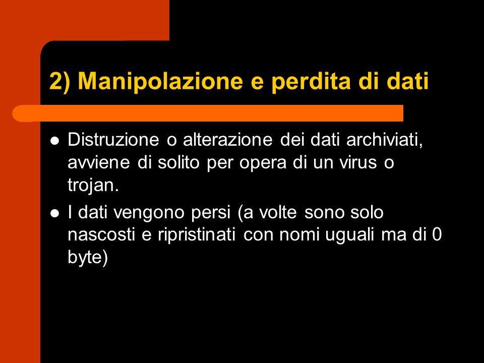 2) Manipolazione e perdita di dati