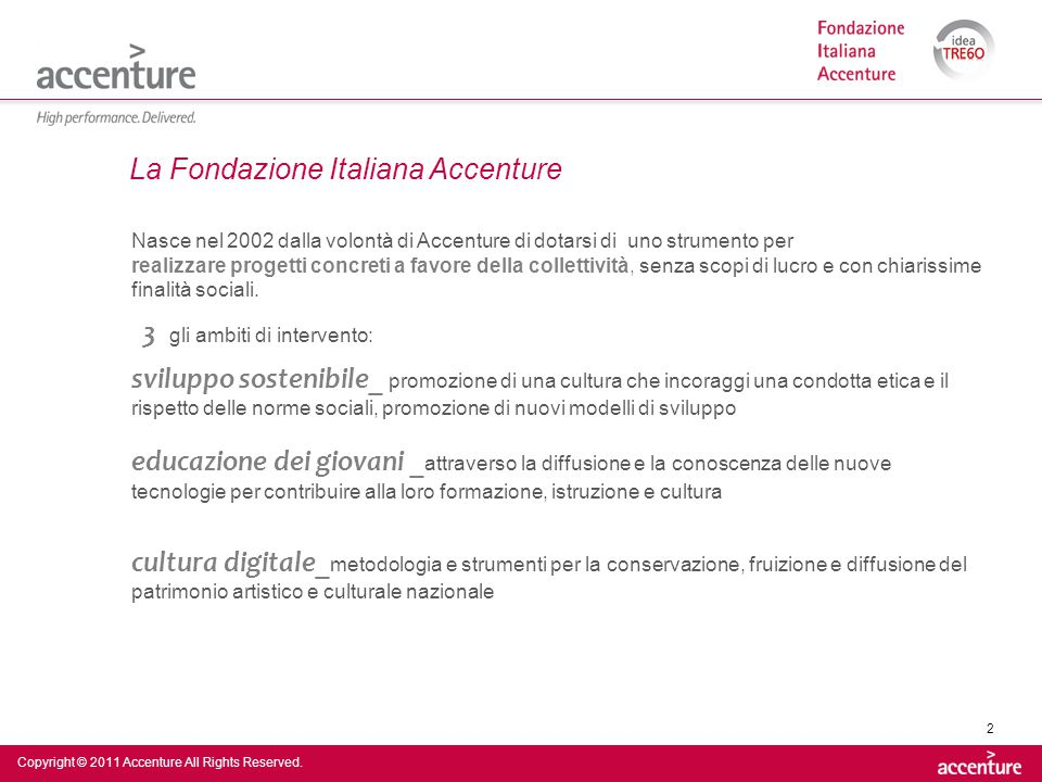 La Fondazione Italiana Accenture