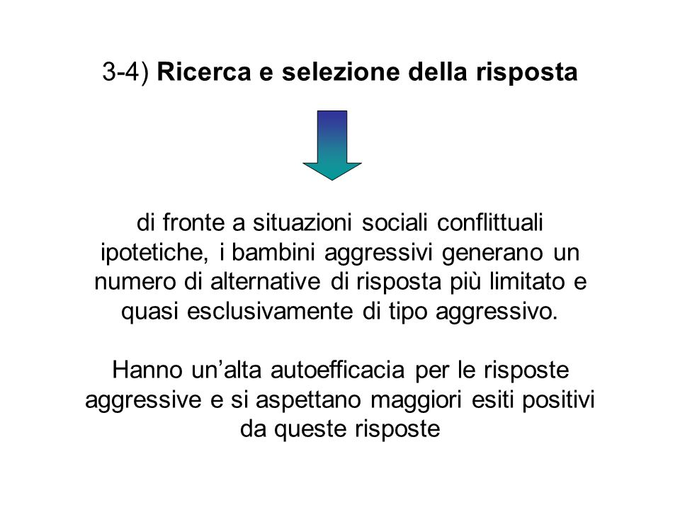 3-4) Ricerca e selezione della risposta