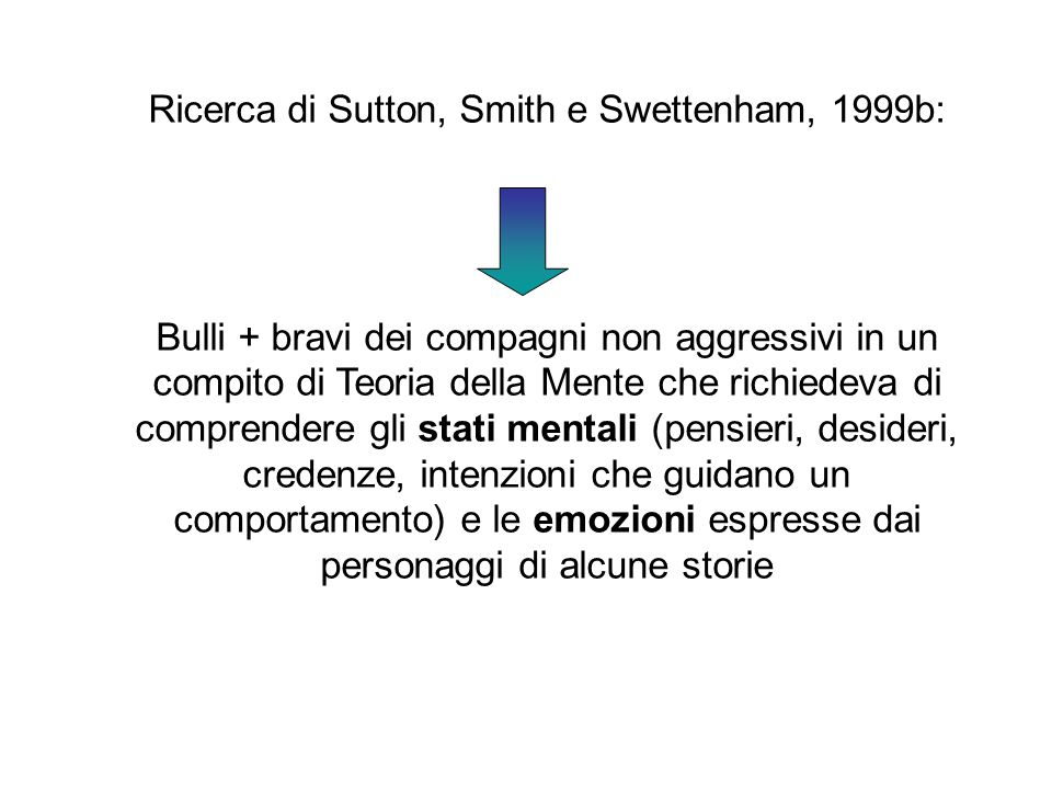 Ricerca di Sutton, Smith e Swettenham, 1999b: