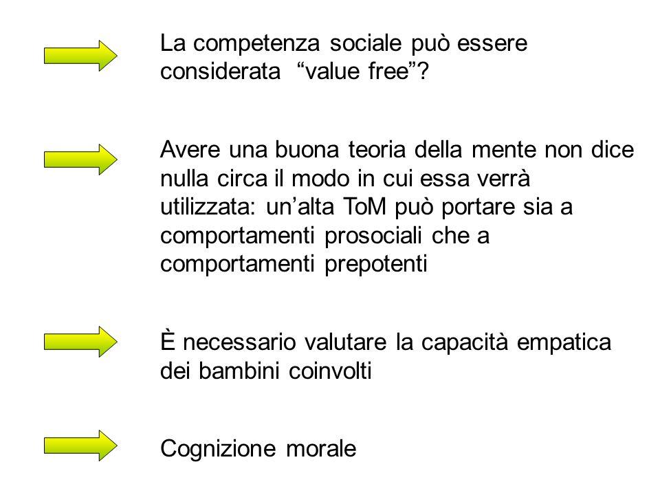 La competenza sociale può essere considerata value free