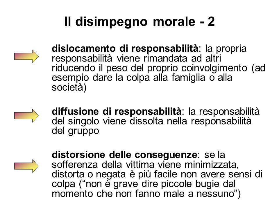 Il disimpegno morale - 2