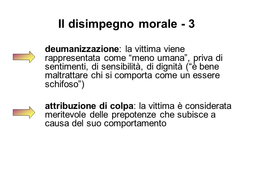 Il disimpegno morale - 3