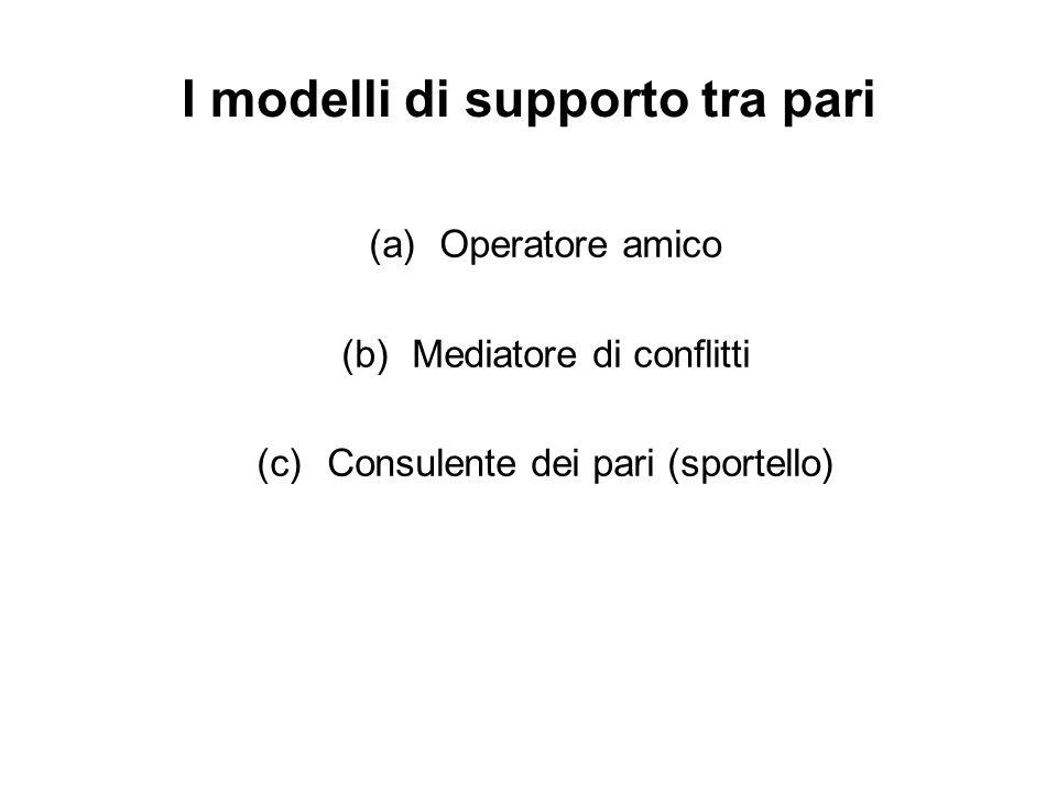 I modelli di supporto tra pari