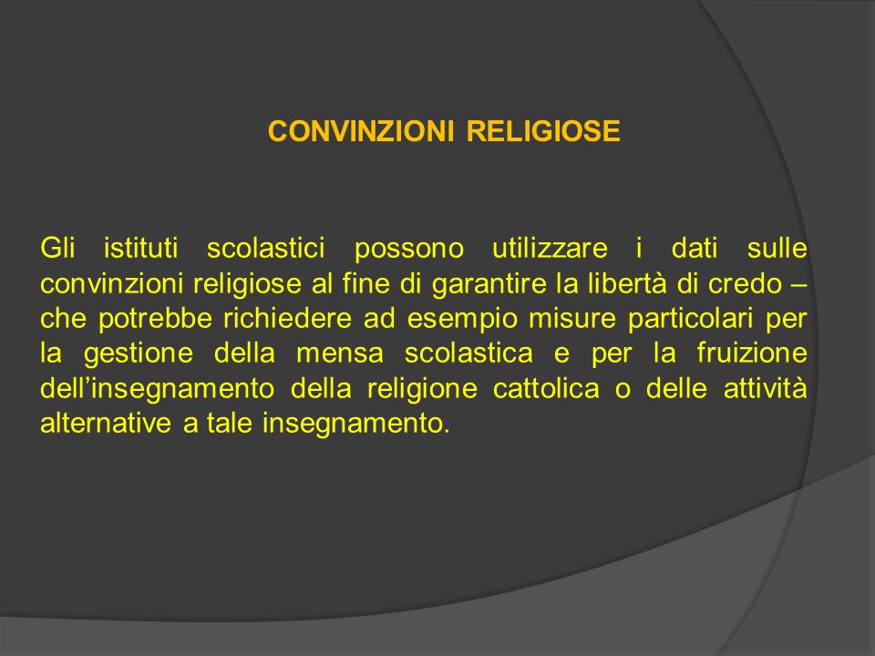 CONVINZIONI RELIGIOSE