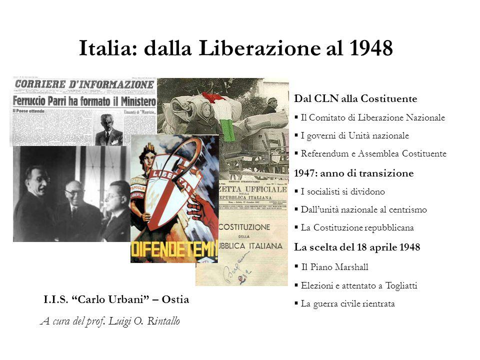 Italia: dalla Liberazione al 1948
