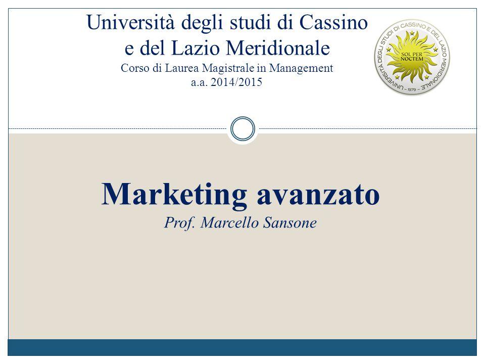 Università degli studi di Cassino e del Lazio Meridionale Corso di Laurea Magistrale in Management a.a. 2014/2015
