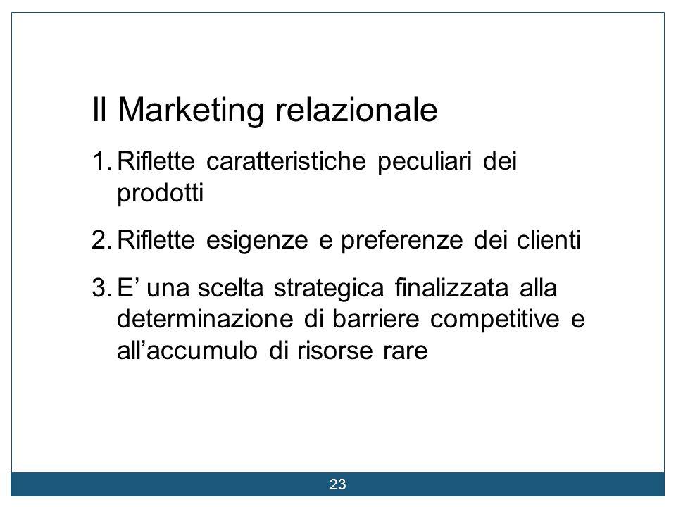 Il Marketing relazionale