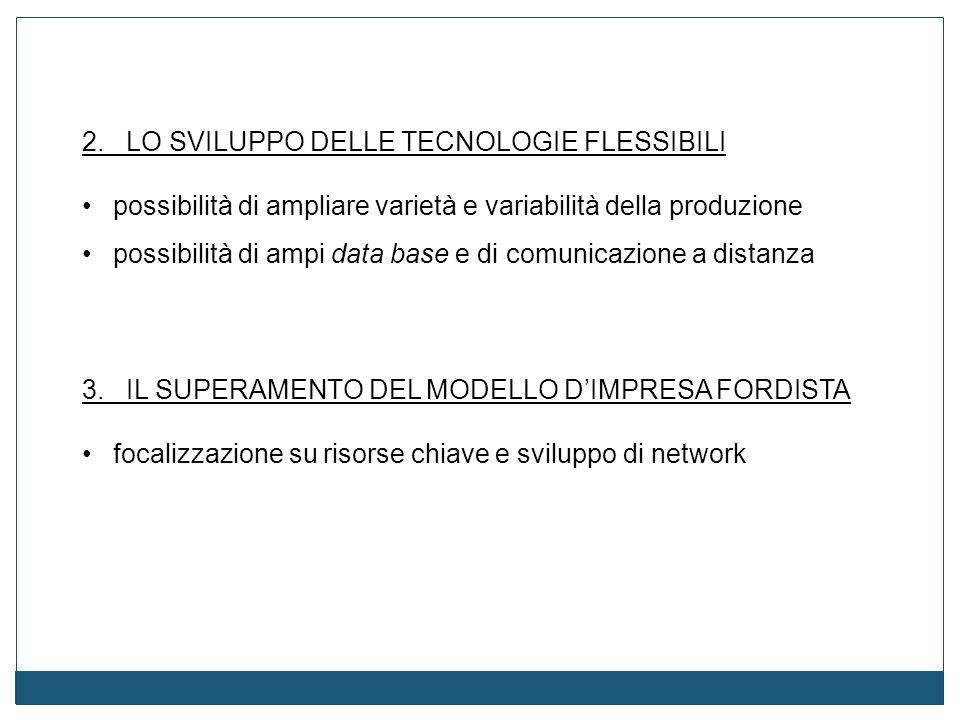 2. LO SVILUPPO DELLE TECNOLOGIE FLESSIBILI