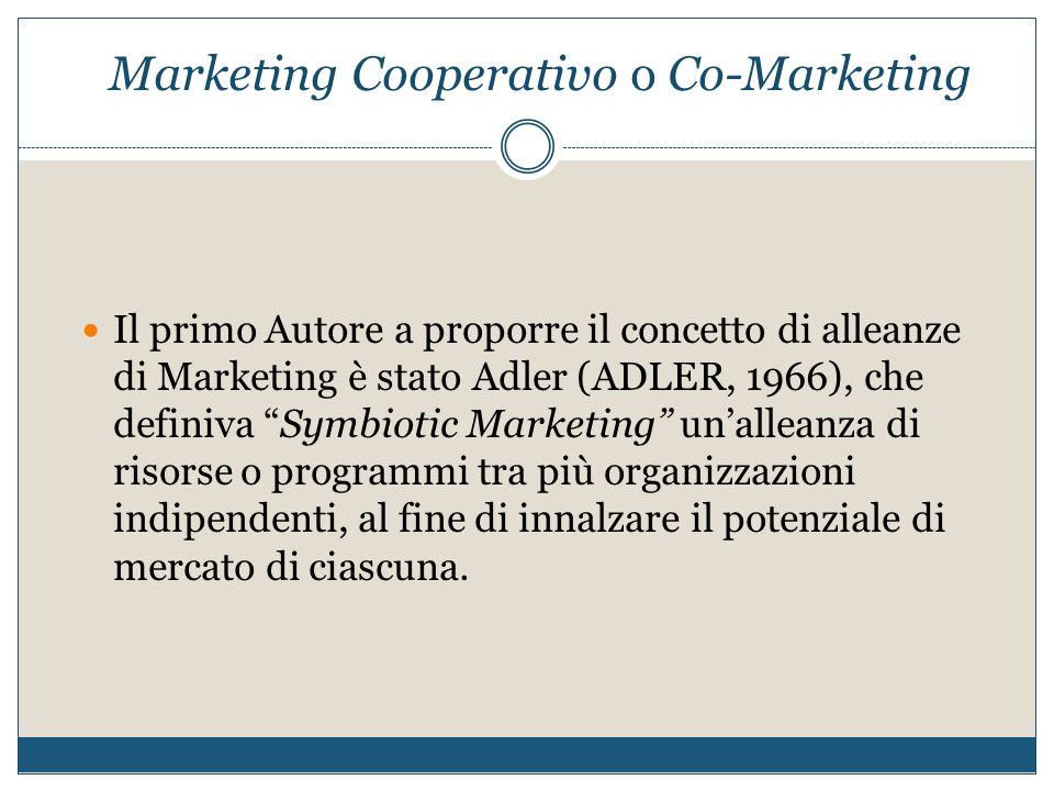 Marketing Cooperativo o Co-Marketing