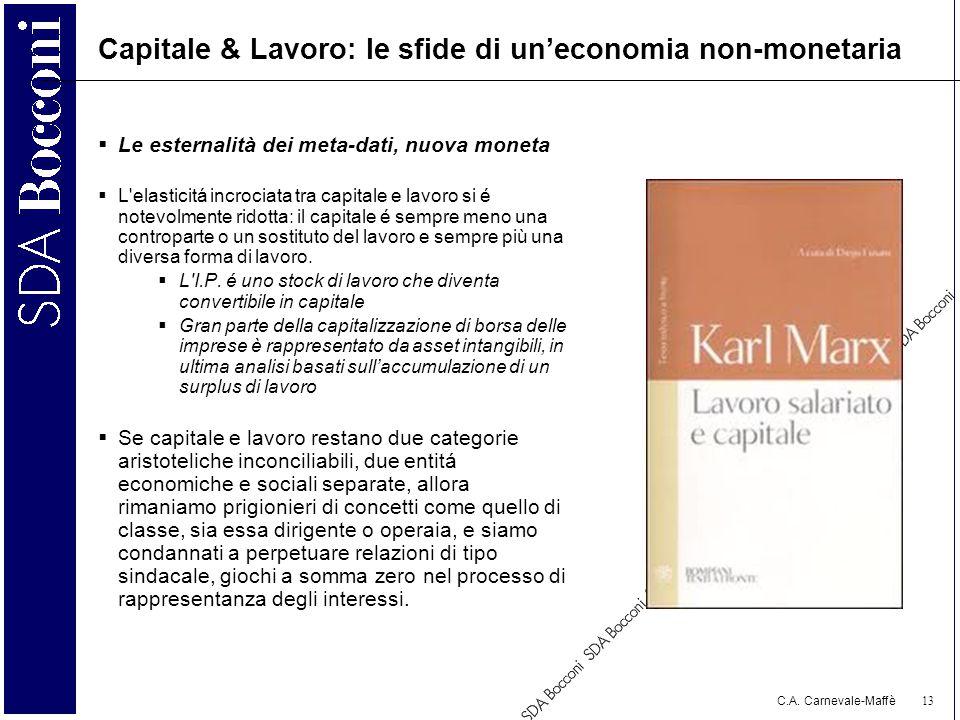 Capitale & Lavoro: le sfide di un'economia non-monetaria