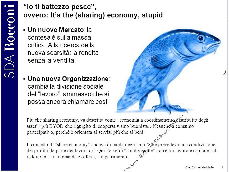 Io ti battezzo pesce , ovvero: It's the (sharing) economy, stupid