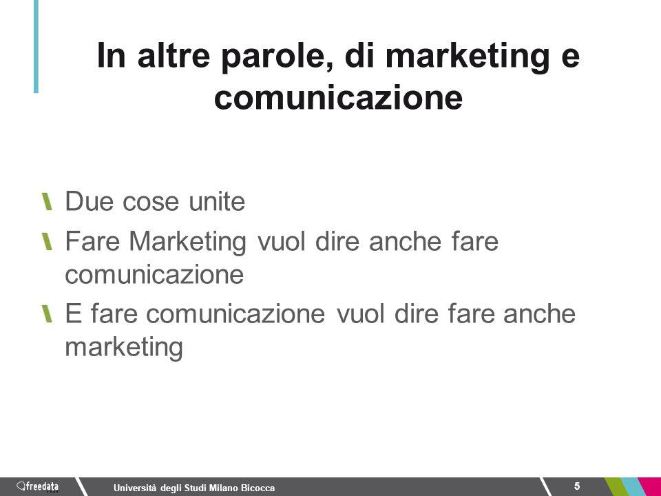 In altre parole, di marketing e comunicazione