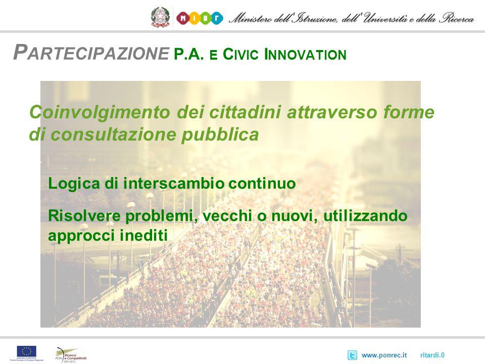 Partecipazione P.A. e Civic Innovation