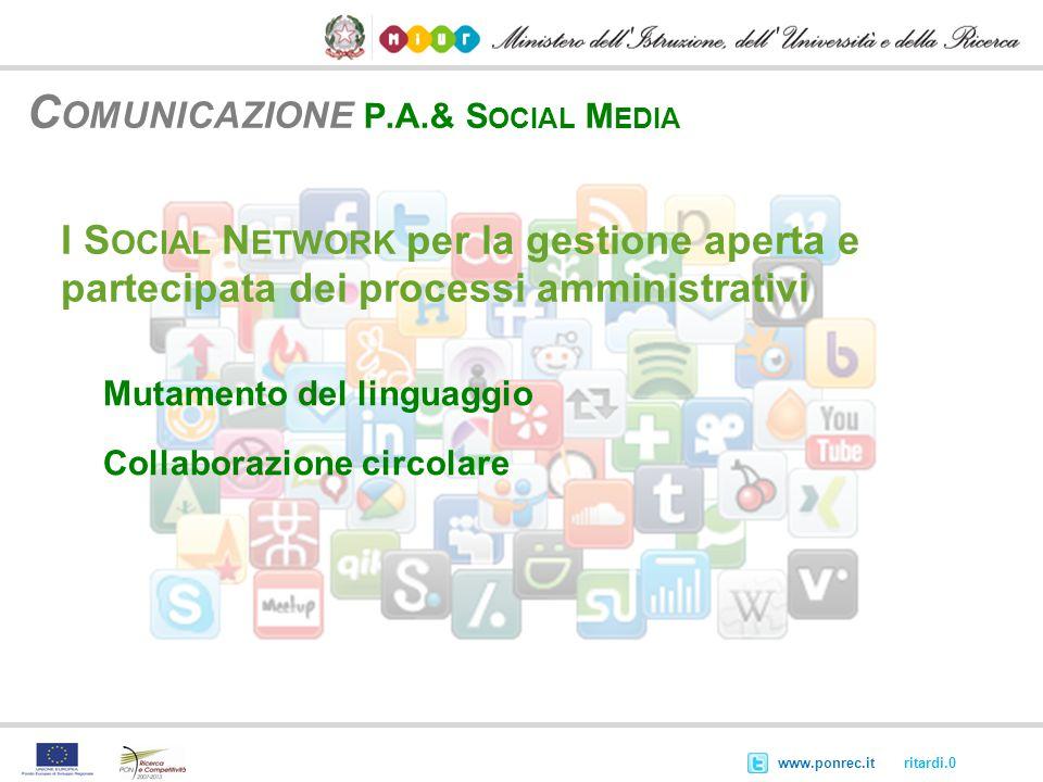 Comunicazione P.A.& Social Media