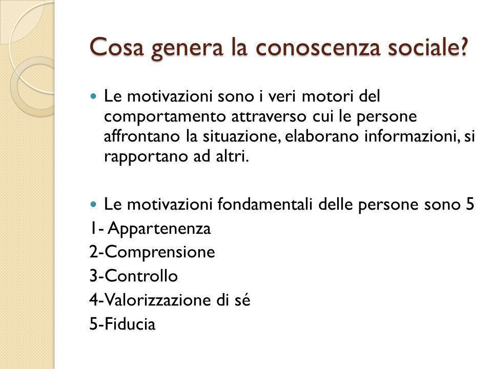 Cosa genera la conoscenza sociale
