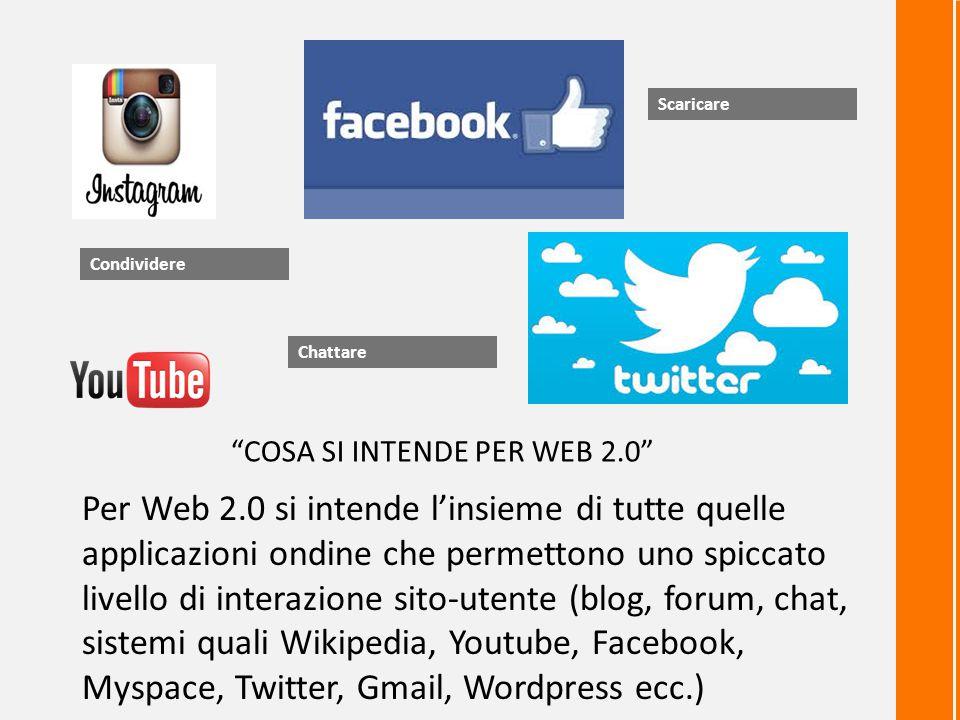 Scaricare Condividere. Chattare. COSA SI INTENDE PER WEB 2.0