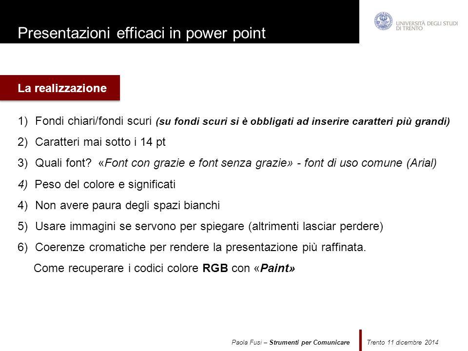 Presentazioni efficaci in power point