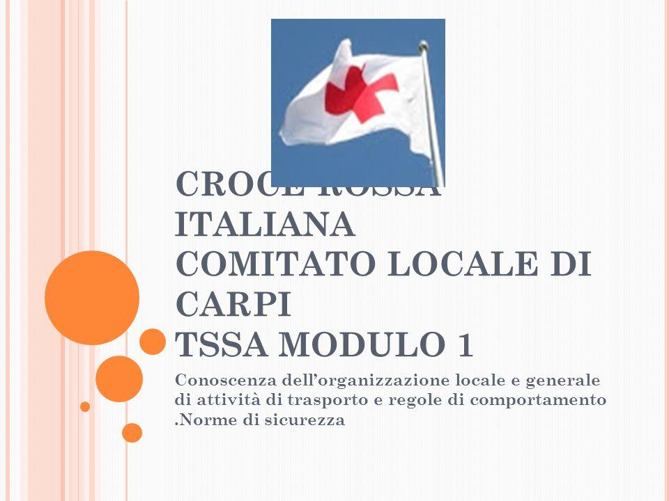 CROCE ROSSA ITALIANA COMITATO LOCALE DI CARPI TSSA MODULO 1