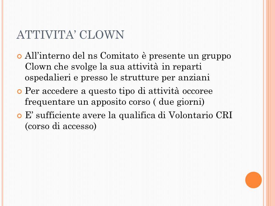 ATTIVITA' CLOWN
