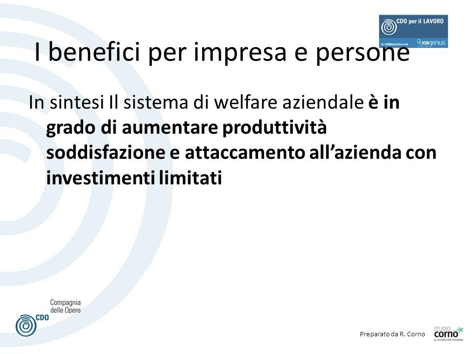 I benefici per impresa e persone