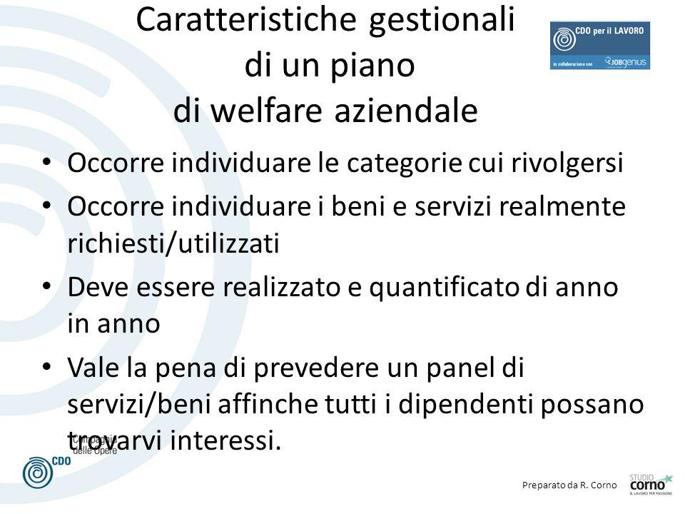 Caratteristiche gestionali di un piano di welfare aziendale