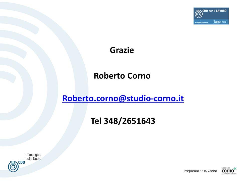 Grazie Roberto Corno Roberto.corno@studio-corno.it Tel 348/2651643
