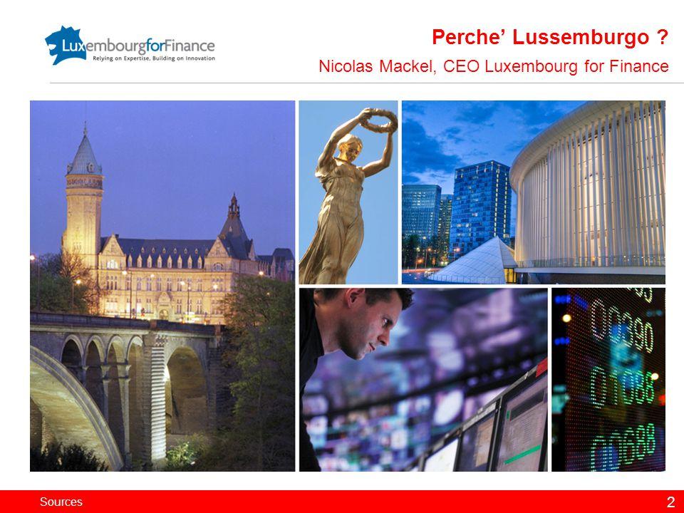 Perche' Lussemburgo Nicolas Mackel, CEO Luxembourg for Finance