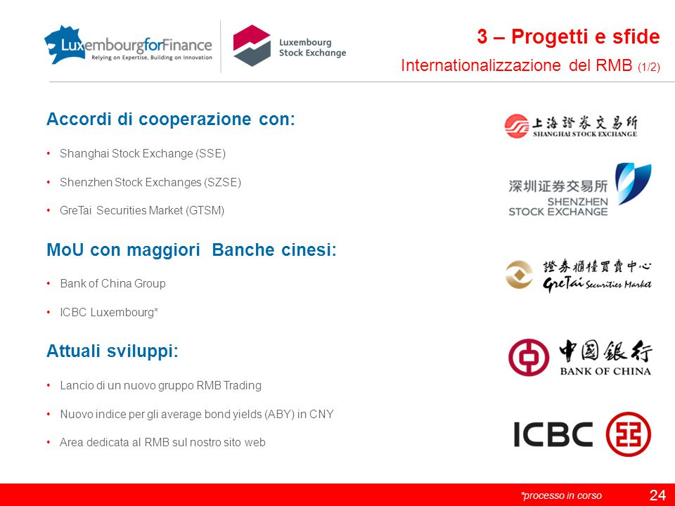 3 – Progetti e sfide Accordi di cooperazione con: