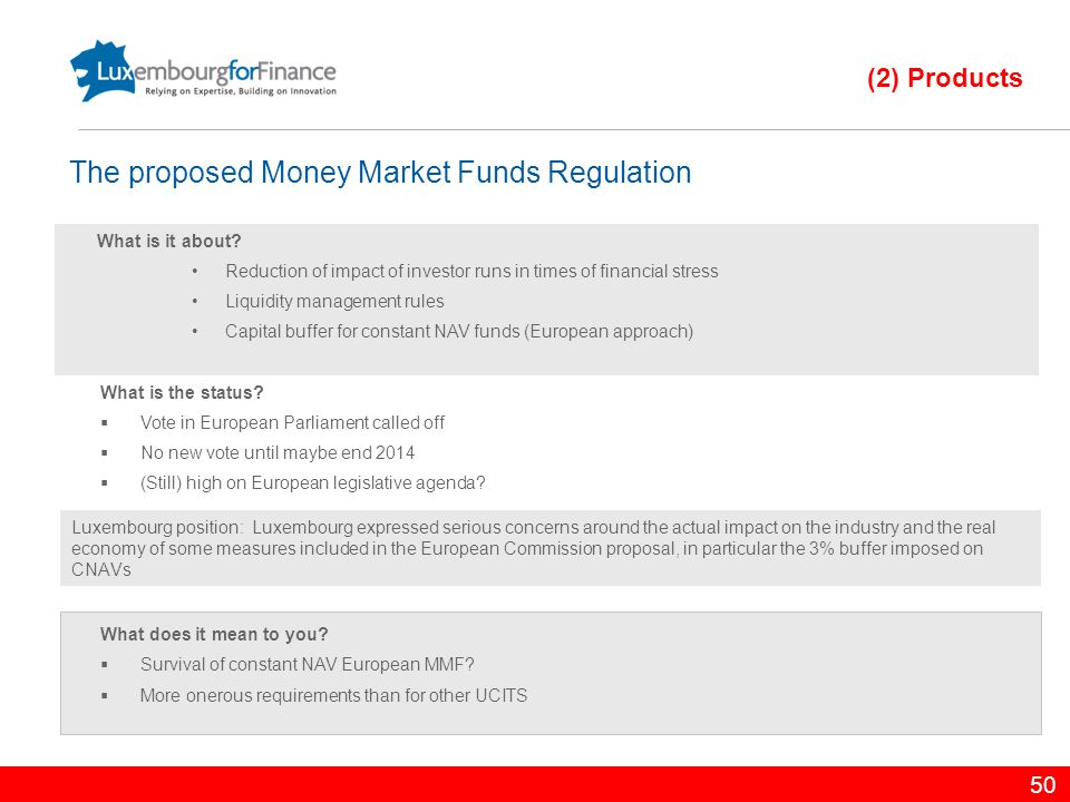 The proposed Money Market Funds Regulation