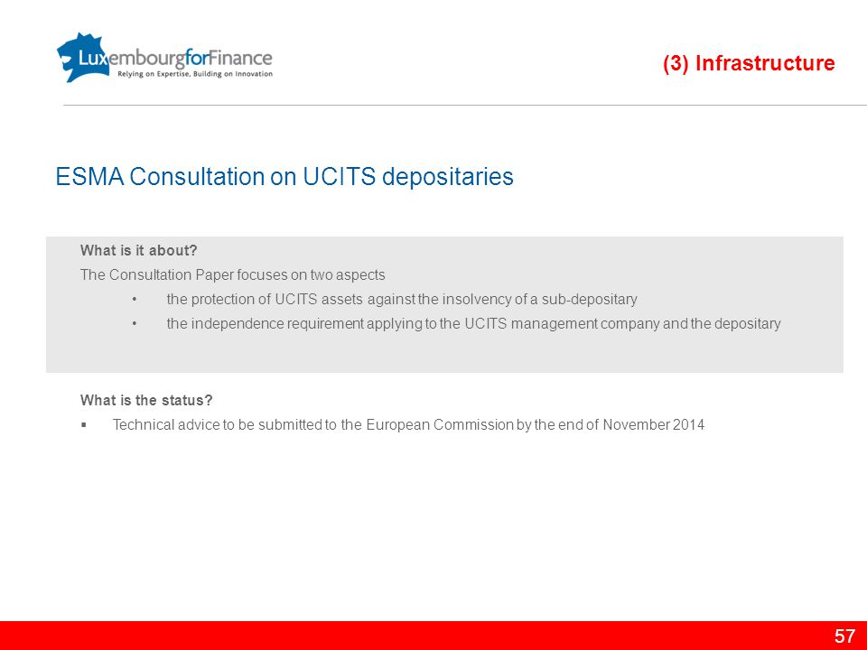 ESMA Consultation on UCITS depositaries