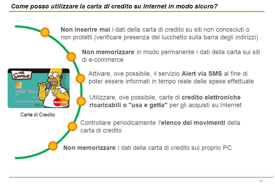 Come posso utilizzare la carta di credito su Internet in modo sicuro
