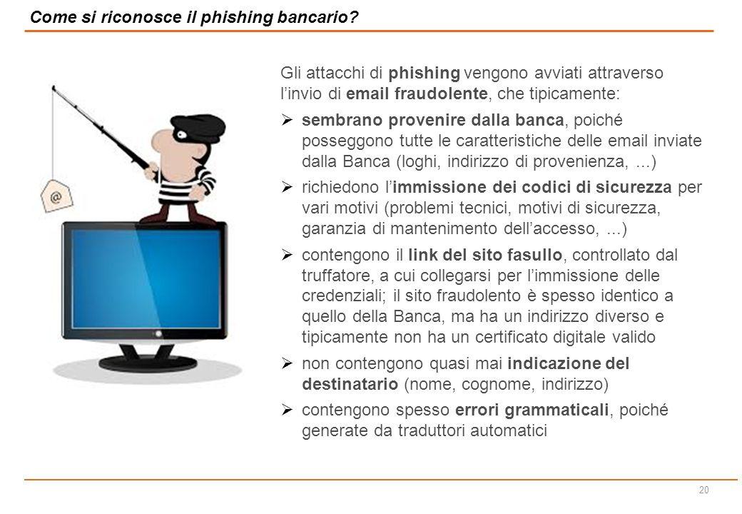 Come si riconosce il phishing bancario