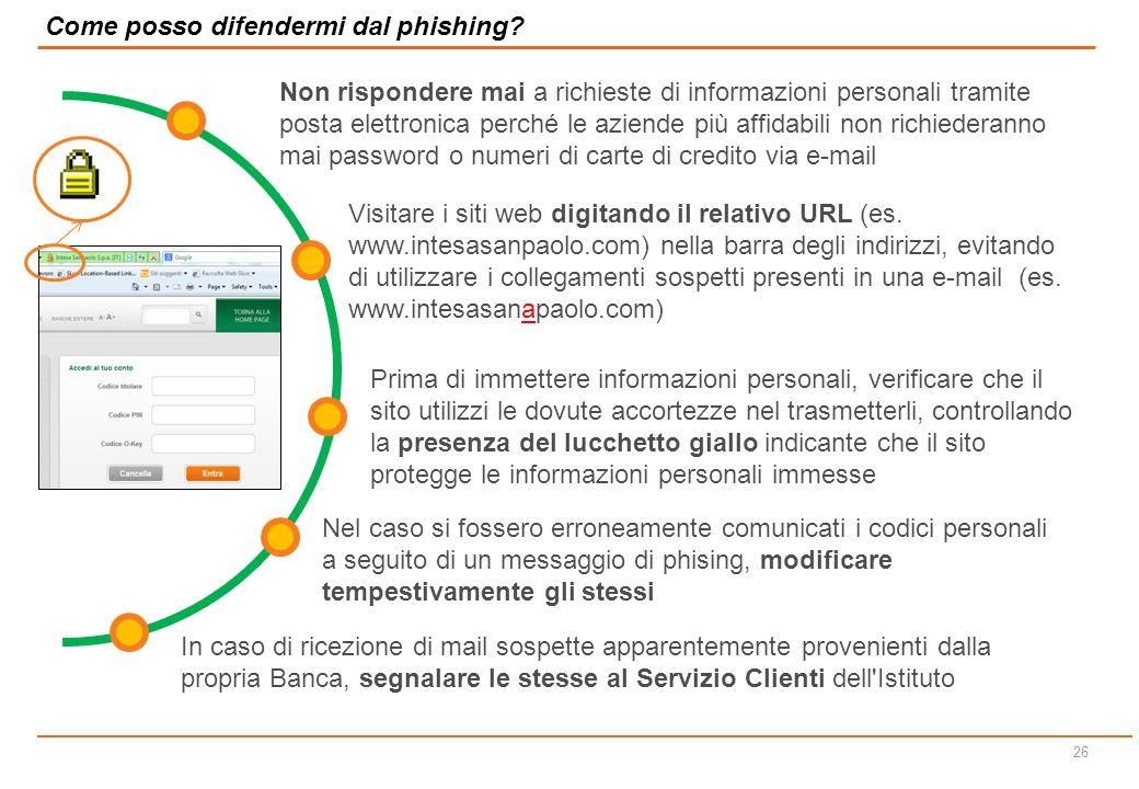 Come posso difendermi dal phishing