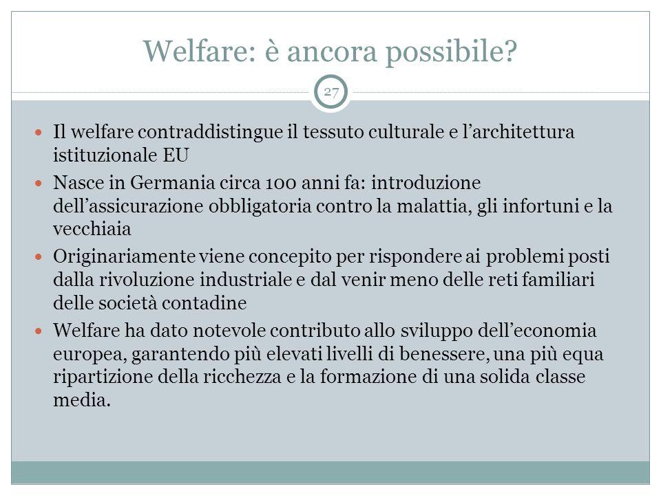 Welfare: è ancora possibile