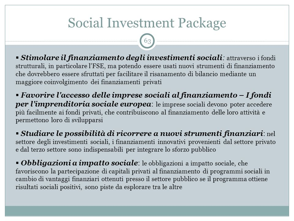 Social Investment Package